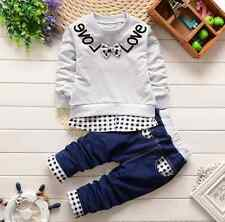 2pcs Toddler Kids Baby Boys girls Long Sleeve T-Shirt+ Pants Clothes Outfits Set
