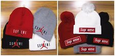 Supreme Michael Jordan Hats Cap Winter Men's Women's Warm Beanie Cotton Cap