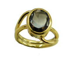 Smoky Quartz Gold Plated Ring radiant Brown wholesale AU K,M,O,Q
