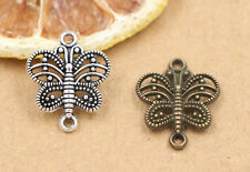 15/60pcs Lot DIY Tibetan Silver Hollow Butterfly Charm Pendant 17x14mm