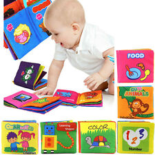 Educational Intelligence Development Soft Cloth Learn Cognize Book For Kids Baby