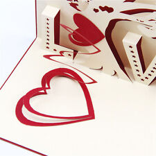 Card Gift Handmade Valentine's  Day Diy Paper-cut Creative Cards Greeting Card