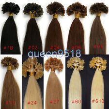 """18""""20""""U /NAIL Kertain Fusion Pre Bonded Tip Straight Remy Human Hair Extensions"""