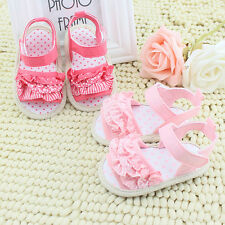 Baby Infant Kids Girl Princess Lace Floral Soft Sole Non-slip Crib Sandals Shoes