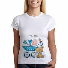 Funny Pregnancy T-Shirt Its A Boy Baby Teddy Bear Maternity Clothes Tees TopGift