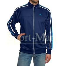 Mens Adidas Performance Essential 3S Pes Track Top Gym Full Zip Tracksuit Jacket