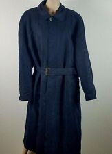 NWOT MENS' RAINMAN LONDON NAVY LONG TRENCH DOUBLE LINED COAT SIZE 44R