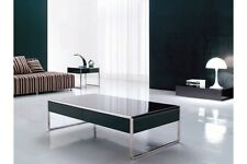 NEW Glass Chrome Black Coffee Table /occasional table UK based fully assembled