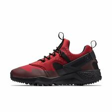 NIKE AIR HUARACHE UTILITY MENS TRAINER SHOE SIZE 10 GYM RED BLACK
