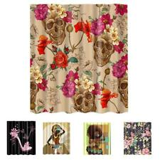 Polyester Fabric Bathroom Curtain Shower Panel with 12pcs Hooks 1.8Mx1.8M