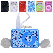 6 Colors Mini Plastic Clip USB MP3 Music Player Support 8GB SD TF Card BF9