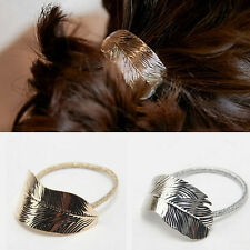 Leaf Hair Band Holder Accessories 2Pcs Elastic Headband Lady Ponytail Rope Women