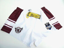 "NRL MANLY SEA EAGLES ""TELSTRA LOGO"" SUPPORTER SHORTS - BRAND NEW"