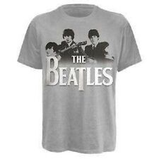 THE BEATLES - BAND OVER LOGO - OFFICIAL MENS T SHIRT