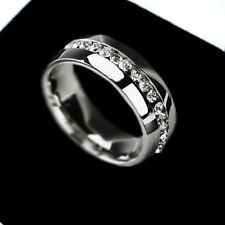 316L Stainless Steel Wedding engagement Ring women Fashion Jewelry Gold Silver C