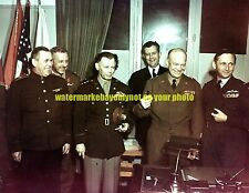 Surrender of German  May 1945 Color Photo Military WW2 France 1945 Eisenhower