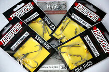 TRONIX READY RIGS , PULLEY , FLAPPER , PULLEY PENNEL 1/2 HOOK CLIPPED SEA RIGS