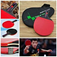 1 PC  Handle Carbon Fiber With Bag Ping Pong Paddle Table Tennis Racket Bat