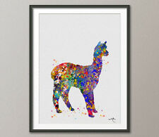 Alpaca Llama Watercolor Painting Print Lama Nursery Wall Decor Art