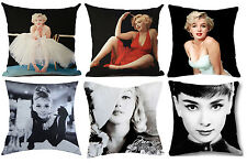 MARILYN MONROE & AUDREY HEPBURN! Lovely Cushion Covers Great Birthday Gift!