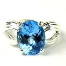 Swiss Blue Topaz, Sterling Silver Ring, SR361-Handmade