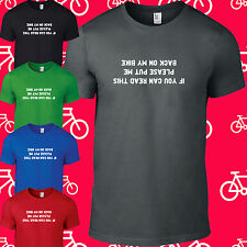 IF YOU CAN READ THIS Funny Mens Cotton Cycling T shirt S M L XL XXL