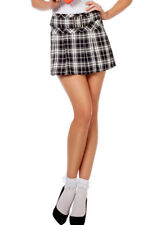 Black and White Pleated School Girl Skirt