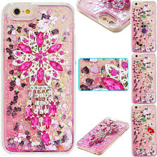 3D Shine Bling Clear Crystal Gem Diamonds Hard PC Case Cover For Iphone 5S 5C 6S