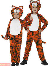 Childs Tiger Costume Boys Girls Jungle Animal Fancy Dress Cat Book Week Outfit