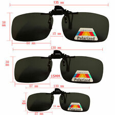 Night Vision Flip up Large Polarized clip on Over sunglass glasses Eyeglass Lens