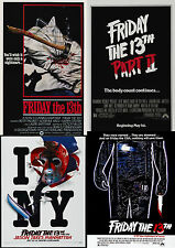 Friday The 13th Movie Poster Collection:Laminated:A4:!Buy 2 Get 3 FREE!!!!!!!!