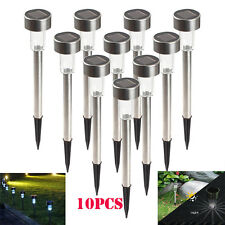 5/10x Outdoor Garden Stainless Steel LED Solar Landscape Path Lights Yard Lamp g