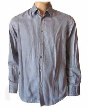 Nwot HUGO BOSS Men's Blue Striped Casual Button Up Oberto L/S Woven Shirt $155