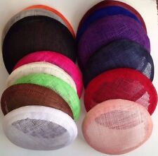 15 cm round  sinamay fascinator base Great for making fascinators/party hats