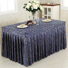 New 4' ft. Fitted Table Skirt Tablecloth Wedding Banquet Event Pleated Polyester