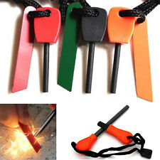 1* Magnesium Flint Stone Fire Starter Lighter Emergency Survival Kit For Camping