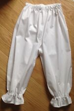 Handmade Victorian style Bloomers white underwear pants capris costume size4-30