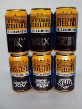BUD LIGHT SUPER BOWL 50 / COMPLETE PITTSBURGH STEELERS SUPER BOWL SIX CAN SET