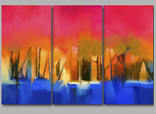 Landscape Paintings Wall Art Prints Split Extra Large 3&4&5 Panel Canvas Picture