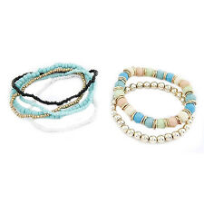 Women's Bohemia Multilayer Acrylic Beads Summer Beach Bracelet Bangle New Clever
