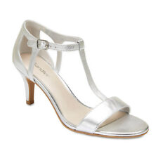 NEW SANDLER ATHENS SILVER LEATHER HEELS SPECIAL OCCASION WOMENS SHOES