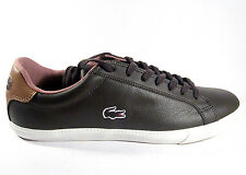 MENS LACOSTE GRADUATE VULC TRAINERS SHOES DARK BROWN WHITE DB2