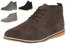 Mens Suede Leather Desert Ankle Boots Camel Brown Casual Formal Lace Up UK 7 -11