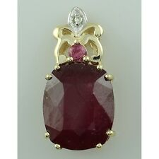 Solid Gold Ruby GF,Pink Tourmaline Gemstone Fancy 6.72 ctw Pendant GSP412