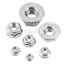 20/100pcs M3-M12 Serrated Hex Flange Nuts Stainless Steel DIN6923 Metric Thread