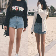 Summer Womens New Trendy High Waisted Rise Distressed Ripped Jeans Denim Shorts