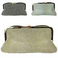 Ladies Designer Diamante Glittery Clasp Clutch Bridal Evening Handbag MA34780