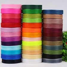 50Yds Roll of 12mm Quality Woven Edge Sheer Organza Ribbon Sewing Craft Wedding