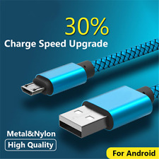 0.5M/1.5M Metal Strong Braided Over 2A Quick Charger Micro USB Data Sync Cable