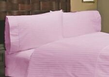 1200 Thread Count Egyptian Cotton 5 PC's Duvet Cover Set Pink Stripe